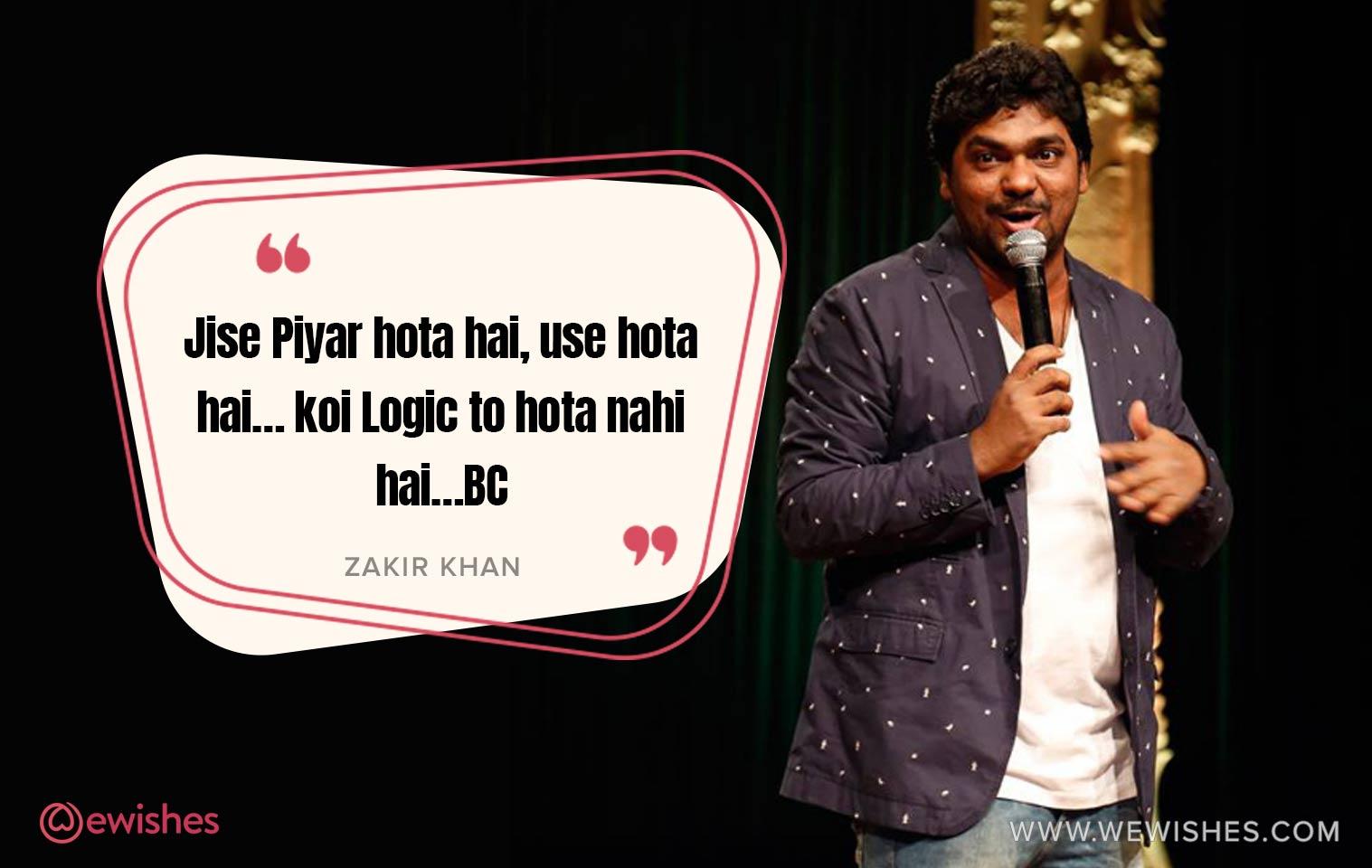 Zakir Khan Quotes on Love