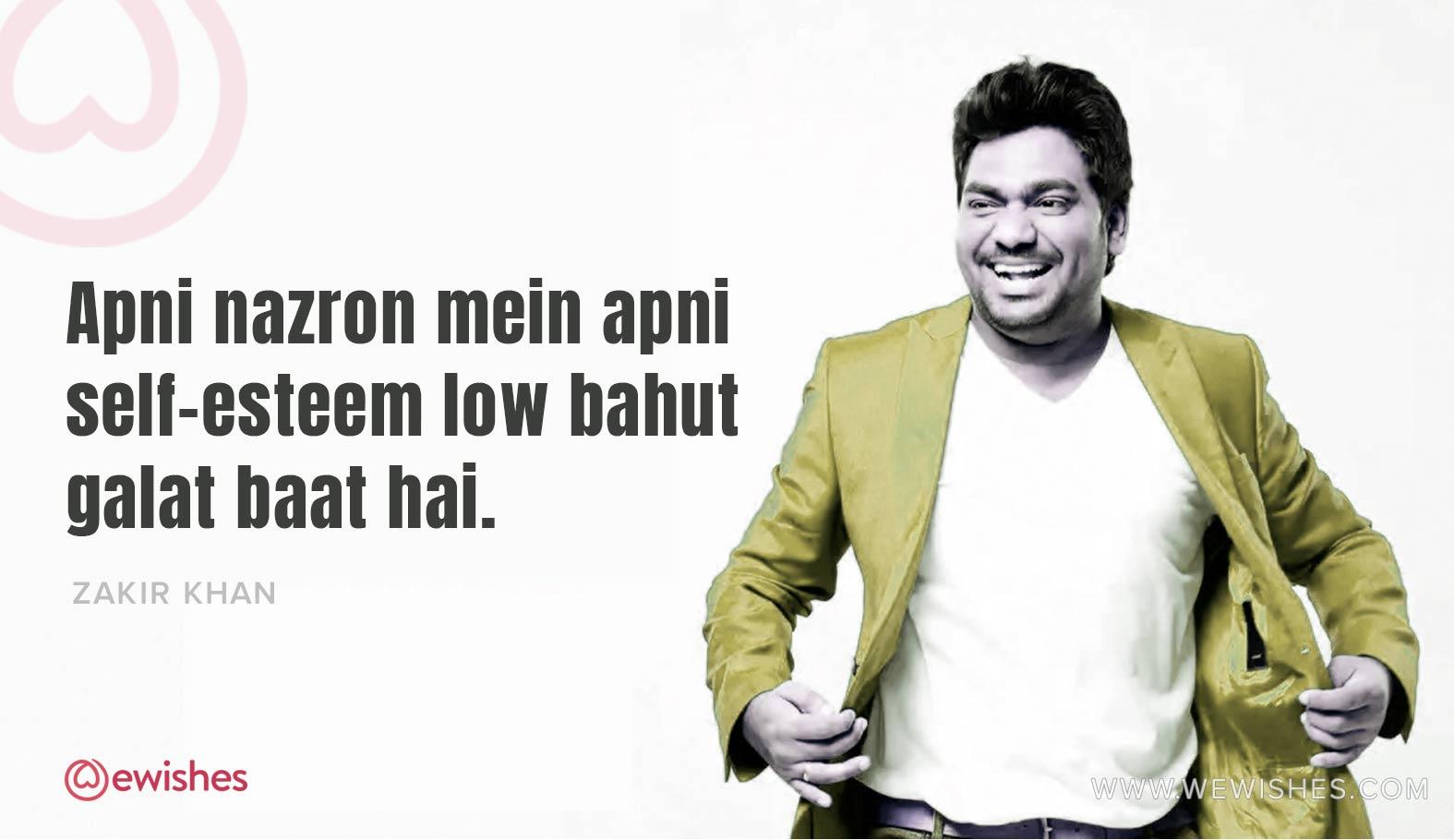 Zakir khan, Quotes, Hindi quotes