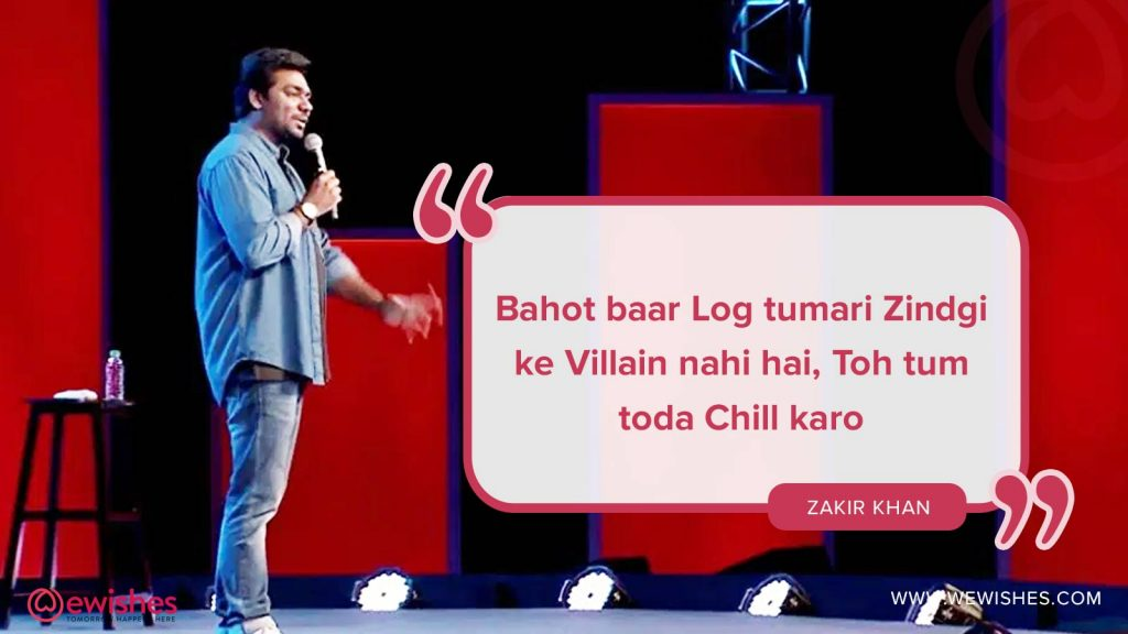 Zakir khan, Quotes, Haq se single