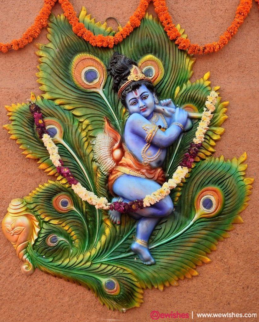 Indian Hindu God Little Krishna