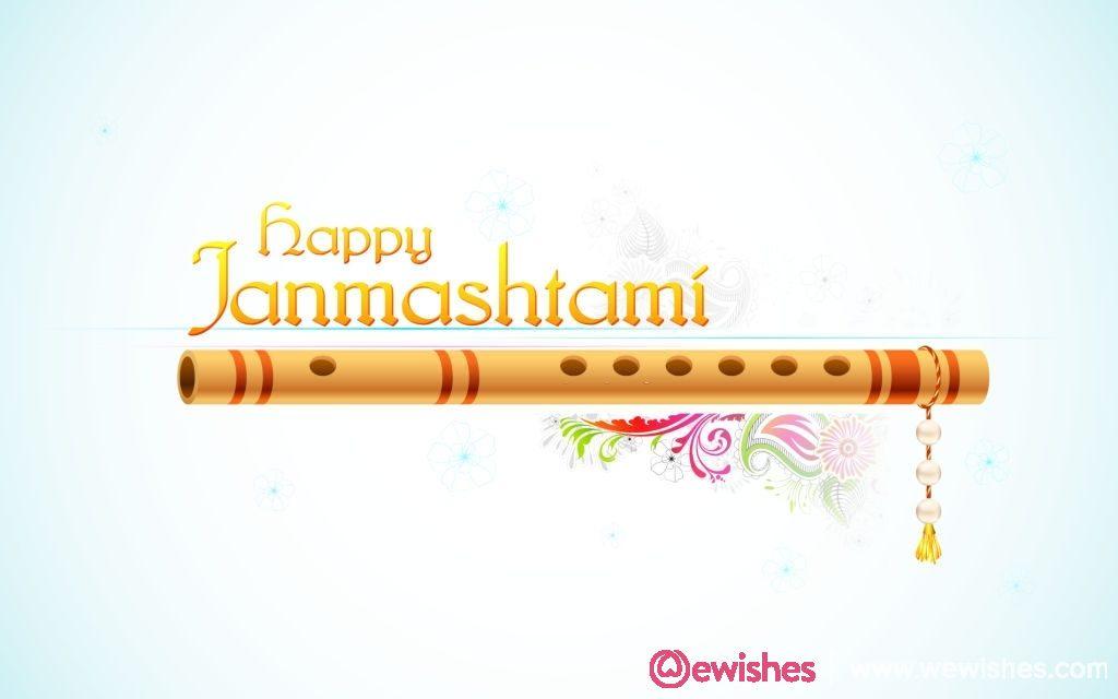 illustration of Happy Janmasthami background